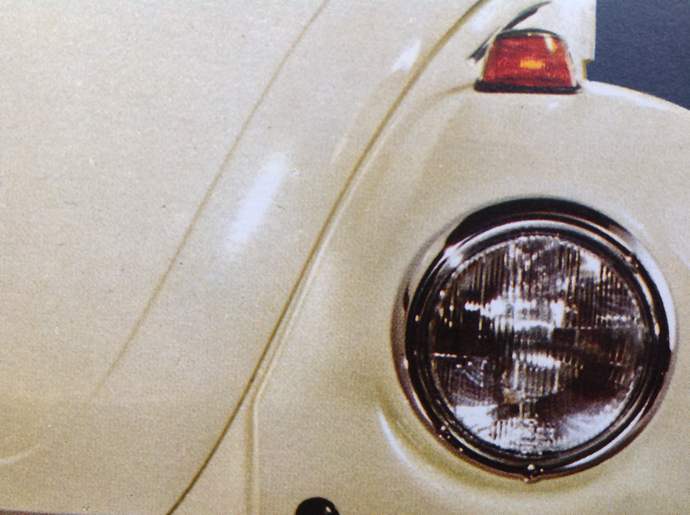 VOLKSWAGEN BEETLE PRE 1967 SLOPING HEADLIGHT PROTECTORS MADE IN THE UK.