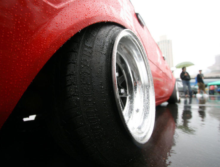 Stretched VW tyres