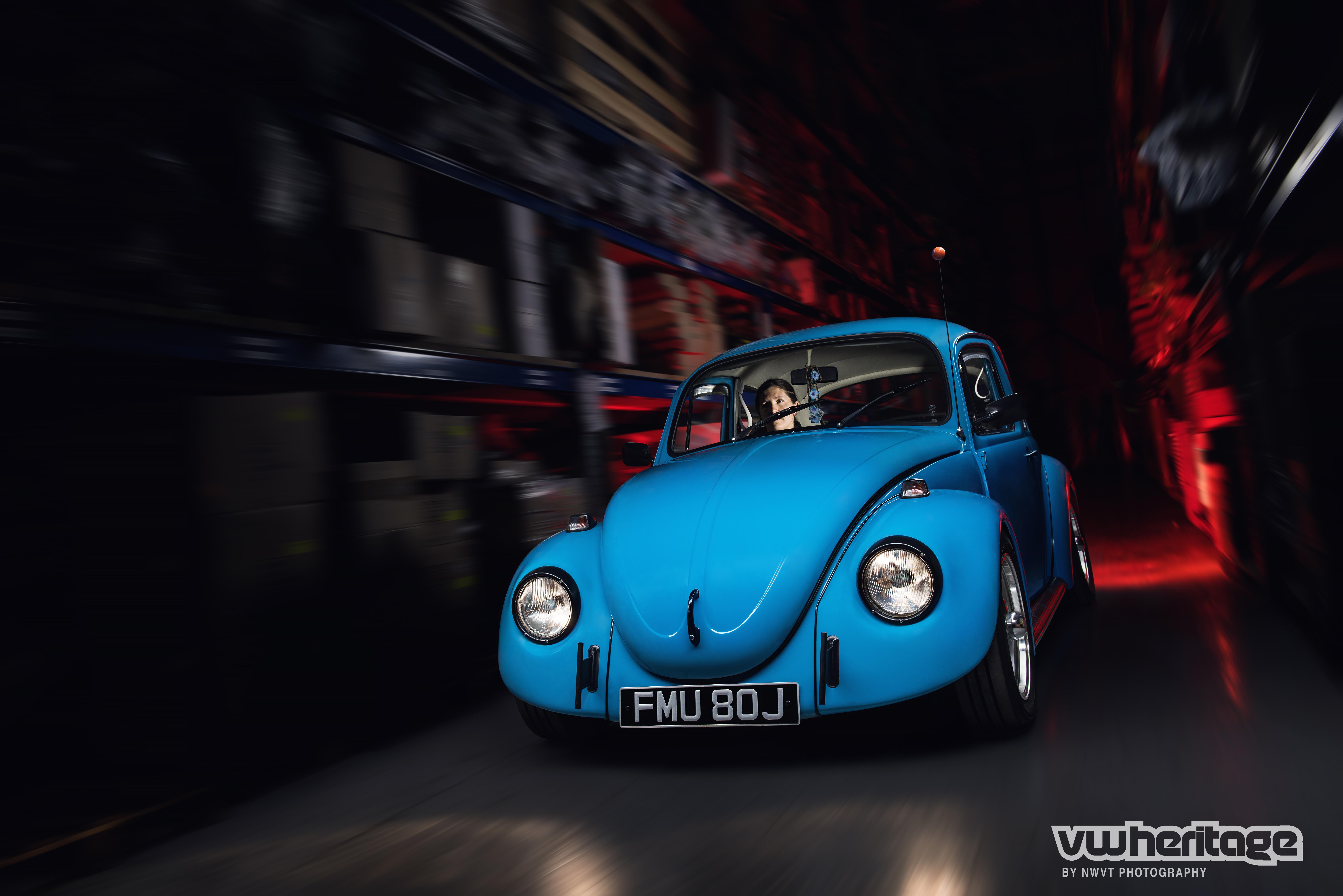Beetle Blue Driving
