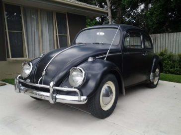 Matt black VW Beetle